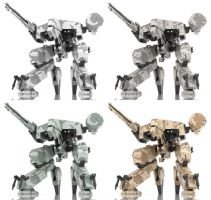 Metal Gear Rex in Camouflages by Kirby1001