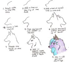 Wolf Head Tutorial by MageSahara