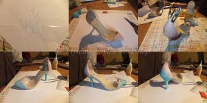 Elsa Ice slippers wip part2 by Hyli-chan