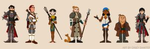 Dragon Age 2: Hawke + Company by thecapturedspy