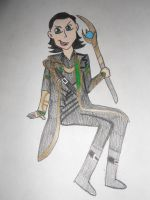 Sitting Loki by JediSkygirl