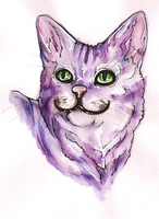 Cheshire Cat - headshot by Kel-Del