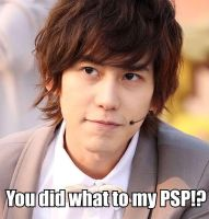 Kyu's PSP by StringsForevea05