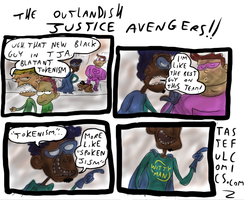 The Outlandish Justice Avengers by EggHeadCheesyBird