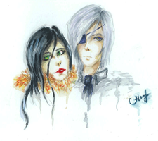 My OC Anhelis and Victor. by Fantomay