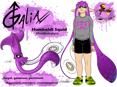 Splatoon OC: Galia by GalenaLarkin