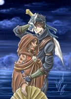 Zutara Week - Day 3 - Mask by sarumanka