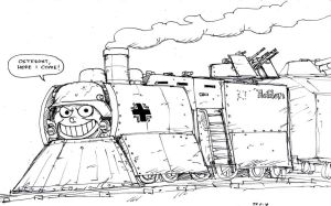 Thomas the Armored Steam Engine by johnnyharadrim