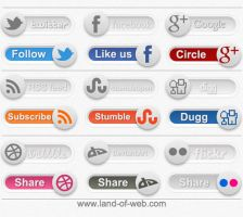 Social Toggles PSD by NatalyBirch
