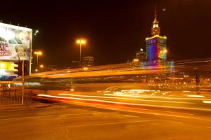 Warsaw by night by papagall