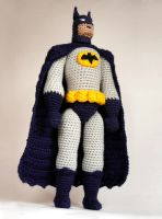 Batman crochet amigurumi doll by tinyAlchemy