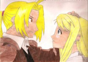 Ed and Winry by Fullmetaldonciii