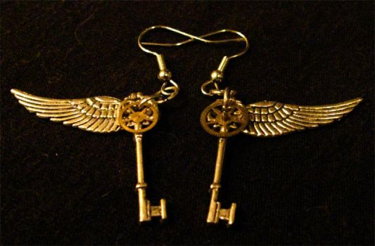 Steampunk Earrings 04 by PhoenixII