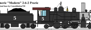 "Generic ""Modern"" 2-6-2 Prarie by ShayNo7"
