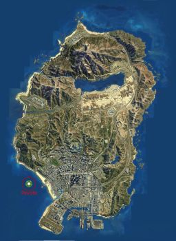 GTA V HD Map With Peyote Locations by gongyoo2