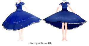 Starlight Dress MMD DL by Allena-Frost-Walker