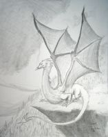 Smaug sketch 3 by fawnmaiden