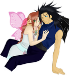 Zack and Aerith in love by Kasumy-Chan