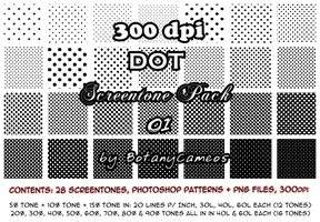 Free resource - 300dpi Screentones - DOT pack by botanycameos