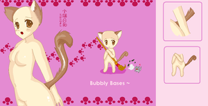 Female Neko Base by Bubbly-Bases