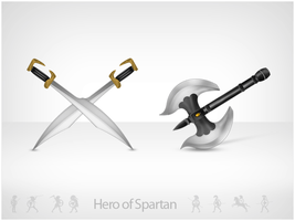 Spartan - Weapons by leofiger