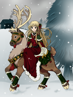 Reindeer Ride by kuro-rakuen
