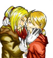 Ed and Al Elric. by kamapon