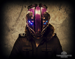 Cybernetic evolution - Glitch Cyberpunk mask by TwoHornsUnited