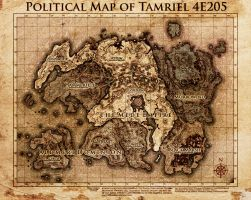 Elder Scrolls: Political Map Tamriel by DovahFahliil