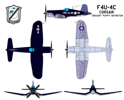 Chance Vought F4U4 Corsair by bagera3005