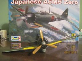 Japanese A6M5 Zero: Front View by cloudyrainbow561