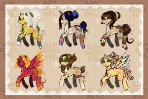 [OPEN] Muffin Pony Adoptables $3USD by SlimyRoboticSnail