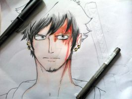 In Progress : Trafalgar Law 01 by ScarletteRoseDEzZean