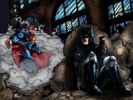 Superman vs Batman by richrow