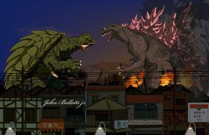 gamera vs godzilla by johnbellottijr