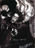 Snape and Lucius: Falling by ElenaTria