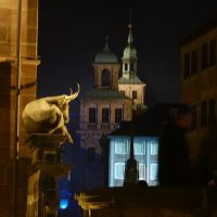 The ox from the bridge in front of city hall by andersvolker