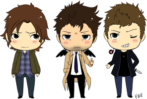 Supernatural Chibi by xxsymmetryxx
