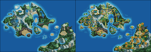 Nameless Pokemon Regions Map by Wooded-Wolf