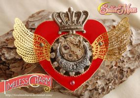 SteamPunk Sailor Moon RED watch by TimelessCharm