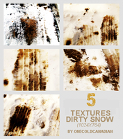 Textures - Dirty Snow by onecoldcanadian