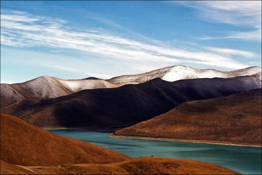 Yamdrok Tso (Turquoise) Lake, Tibet by jup3nep