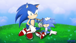 [Art Trade] Sonic and Monty by nyctoshing
