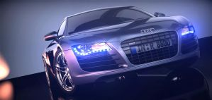 Audi R8 with lights by SnuffPuff