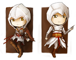 Ezio and Altair by Naeon23