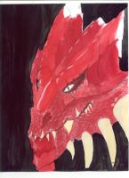 red dragon head by ghost010