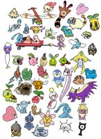 50 Pokeymans in Color by sunnyfish