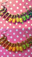 Rainbow fruit bottles - earrings by NimfVirTi