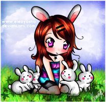 Chibi Eleo and Rabbits by eleoyasha