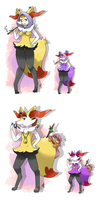 no. 654 Braixen by pitch-black-crow